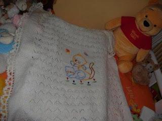 copertina ferri ricamo maglia orsetto