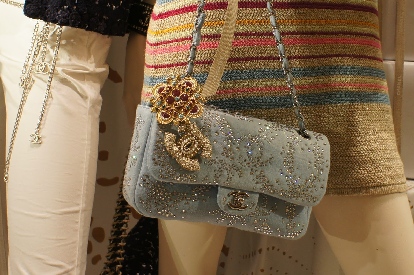 A Blinged Out Classic Flap Bag