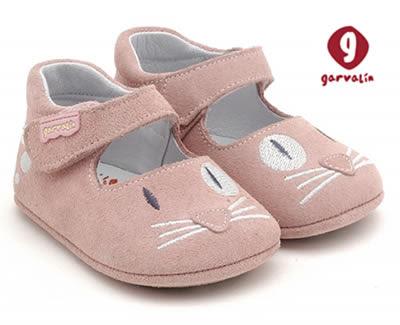 Zapato para bebe Garvalin Rosa