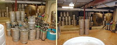 Keg pile, before and after cleaning