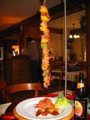 Lamb kebab at Gasthof-Brauerei Hirschen, Kenzingen