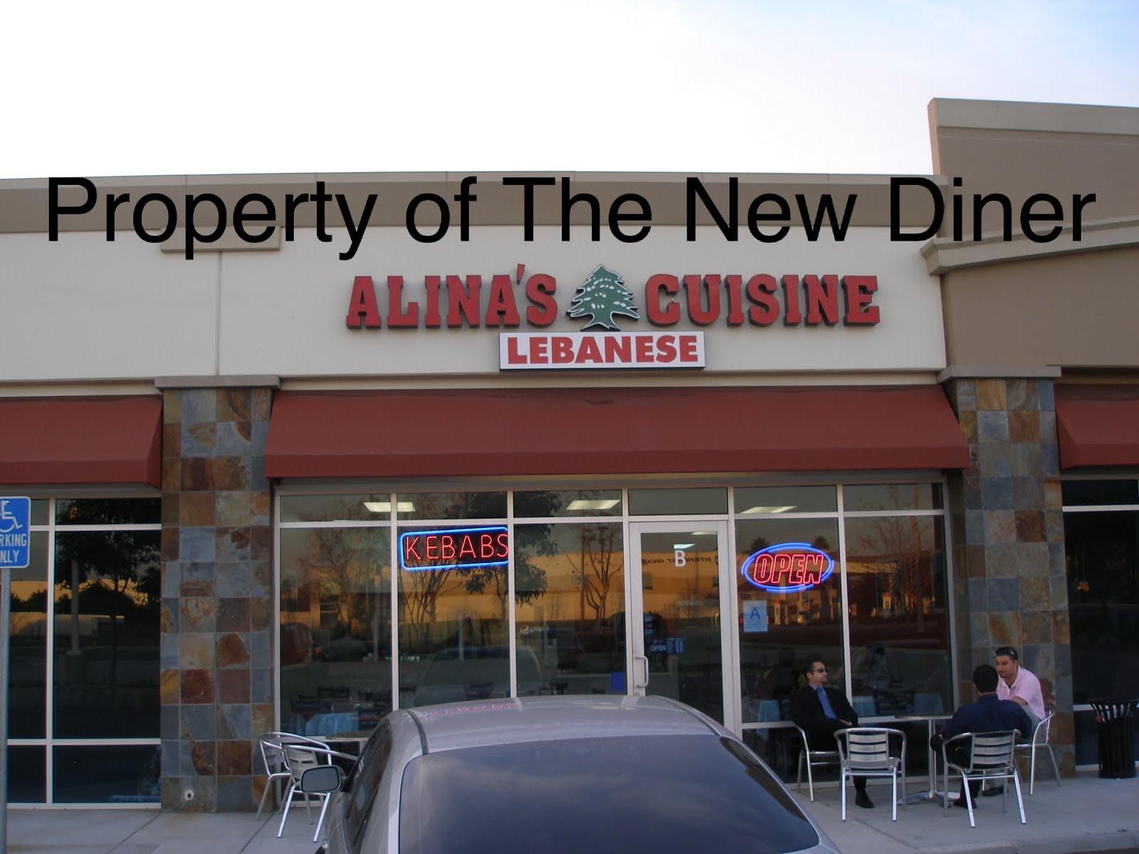 The new diner alina 39 s lebanese cuisine for Alina s lebanese cuisine