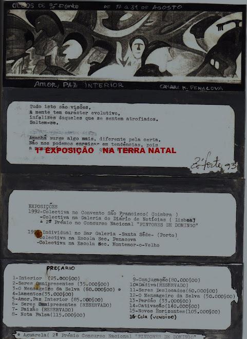 1993  1ª EXPOSIÇÃO EM PENACOVA