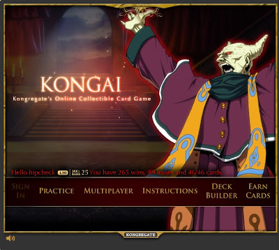 Kongai title screen