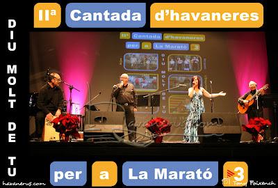 Cubacant a la Cantada d'Havaneres per a La Marató