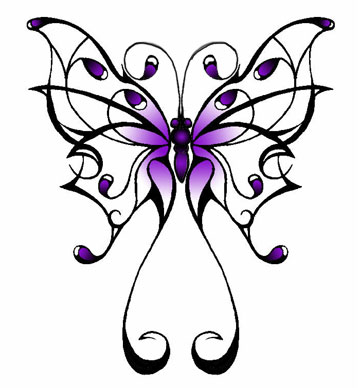 bloem tattoo stock vector : Set of tattoo butterflies