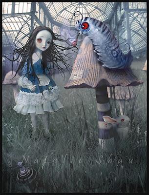 Alice in Wonderland, chenille, Natalie Shau