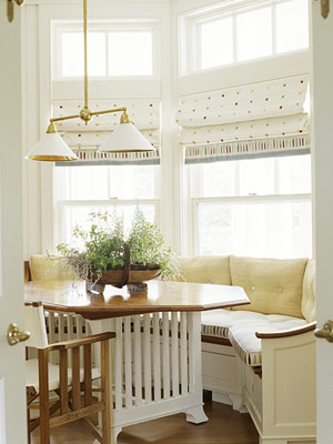 Inspirational Ideas for Kitchen Banquette with Bay Window | Home