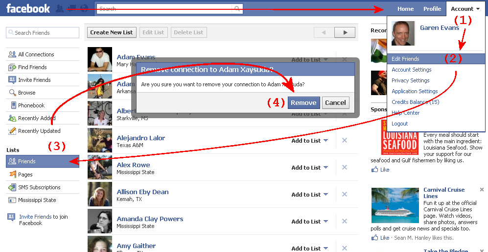 how to see when i friended someone on facebook