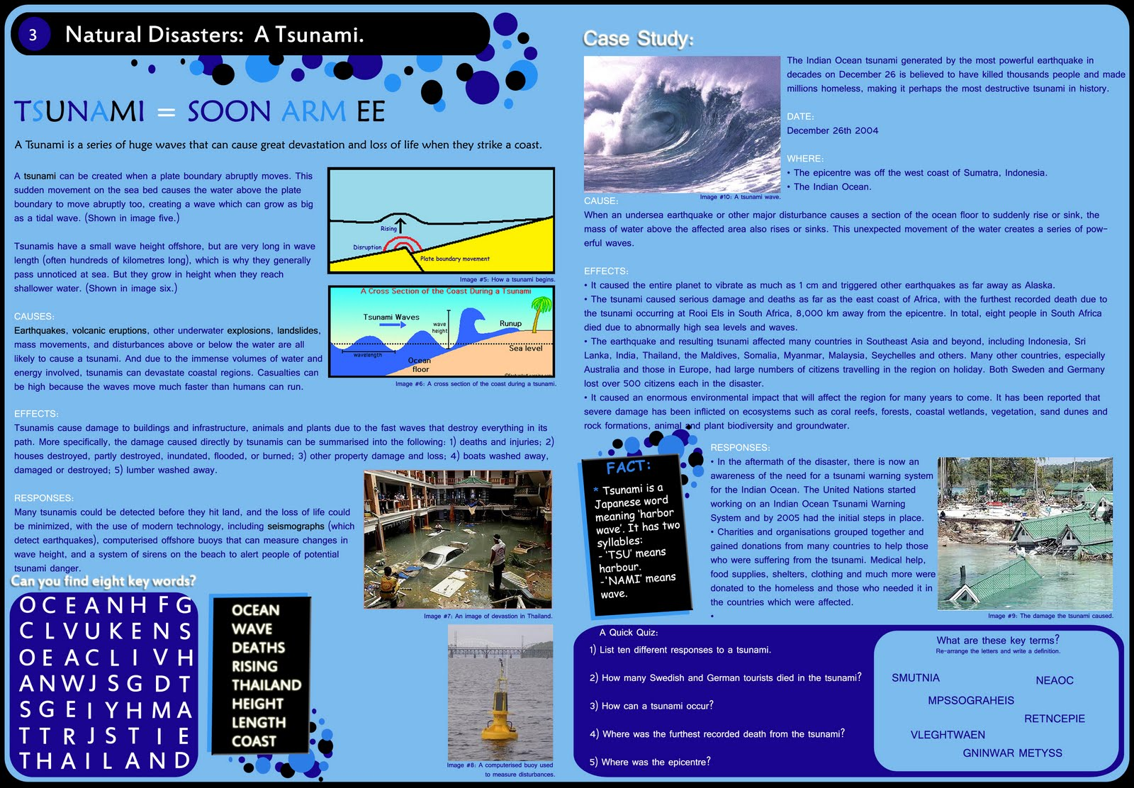 tsunamis have the same impacts on