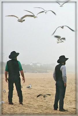 LSAT Blog Amish Men Beach
