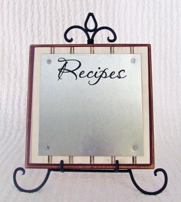 Super Saturday Craft Ideas | Magnet Recipe Board