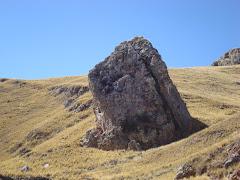Torreón de Jayllahua, en el cual se encuentra impregnado el rostro de una mula.