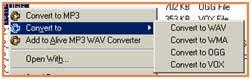 mengubah file musik mp3 ke wav