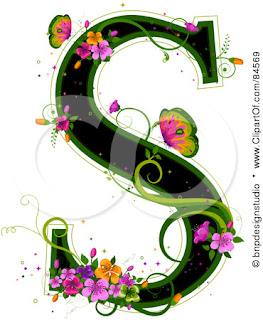 S Alphabet In Flowers Urstruly Suresh: