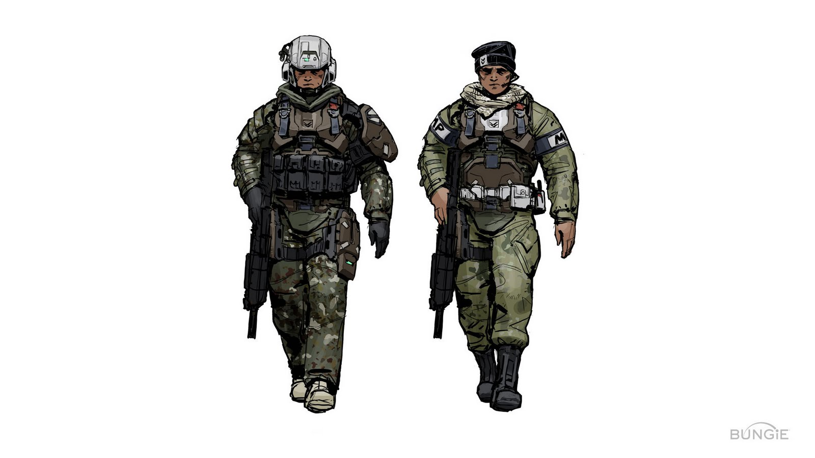 Unsc Marines Halo 4 Halo Unsc Marine Concept Art