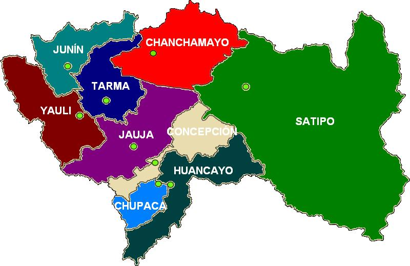 VRAEM (Valles del Río Apurimac Ene y Mantaro) ProvinciasDeJun%C3%83%C2%ADn