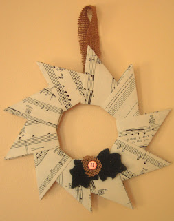 origami christmas wreath, video tutorial