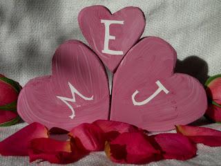 Marvelously Messy : Wooden Valentine Hearts