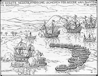 At June 15, 1596 to arrive at Bantam, in the extreme west coast of Java