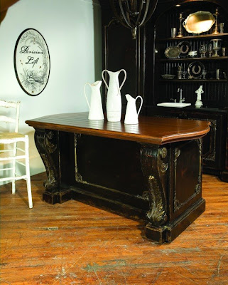 The Granville island from Habersham is one of many new furniture items introduced at the Dallas gift show in 2009.