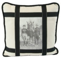 Rebecca Ray Designs black and white pillow
