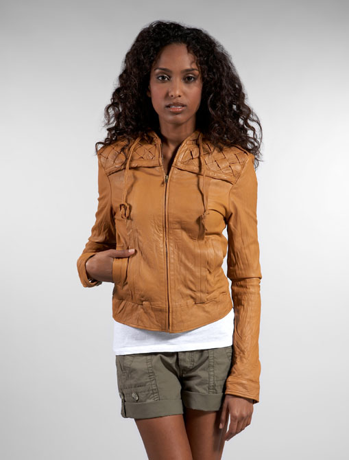 [chapman+italian+lambskin+woven+hooded+jacket+990]