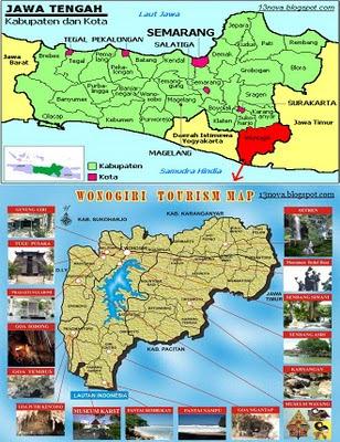 Peta Wonogiri