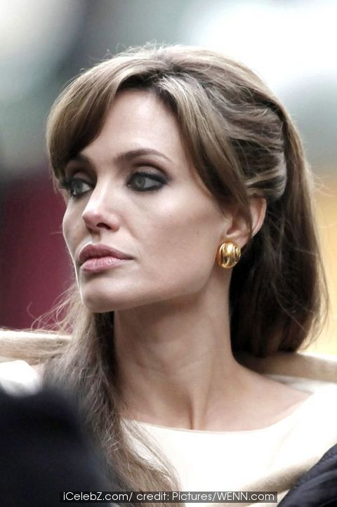 angelina jolie smoking weed. Angelina Jolie, long hair
