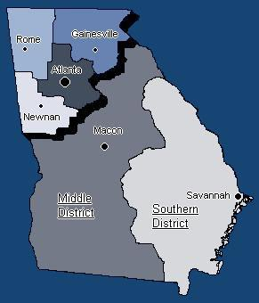 Us District Court Georgia Map - Us court districts map