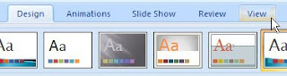PowerPoint 2007 View tab
