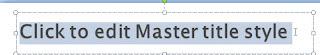 Slide master title master
