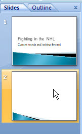 Thumbnail pane PowerPoint 2007
