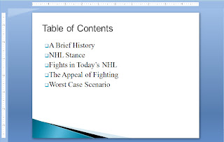 New section in PowerPoint presentation