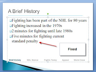 Eliminate orphans from slide PowerPoint 2007