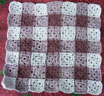 gingham crochet squares