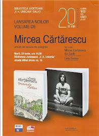 """Afisul lansarii noilor volume de Mircea Cartarescu, """"Frumoasele straine"""" si """"Nimic"""""""