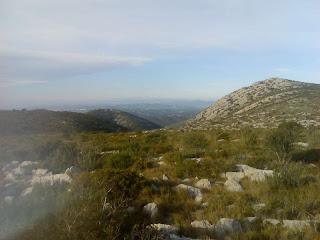 impresionantes las vistas del Garraf