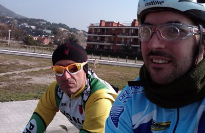 con Dany en Castelldefels