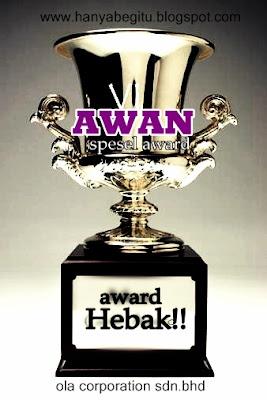 Aku menang AWARD!