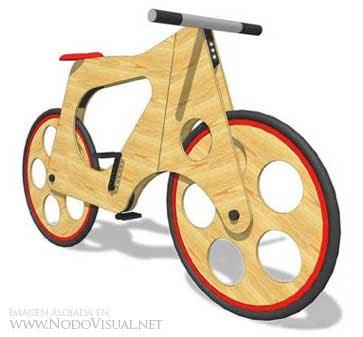 Bicicleta de madera BICI+MADERA+1
