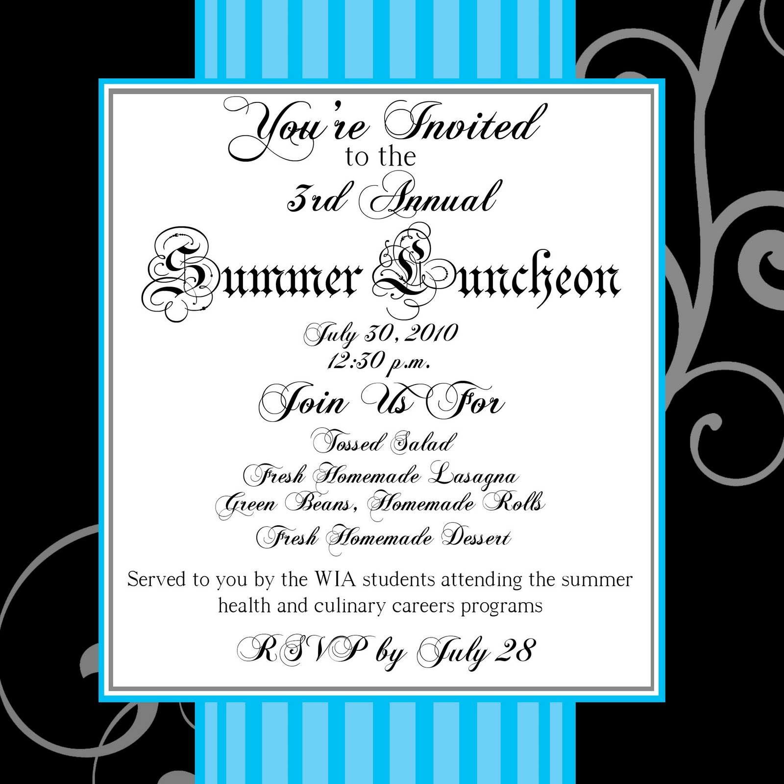 Ashley: Summer Luncheon Invitation
