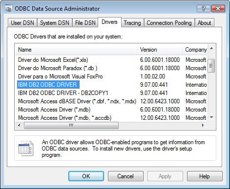 ibm db2 drivers for windows 10