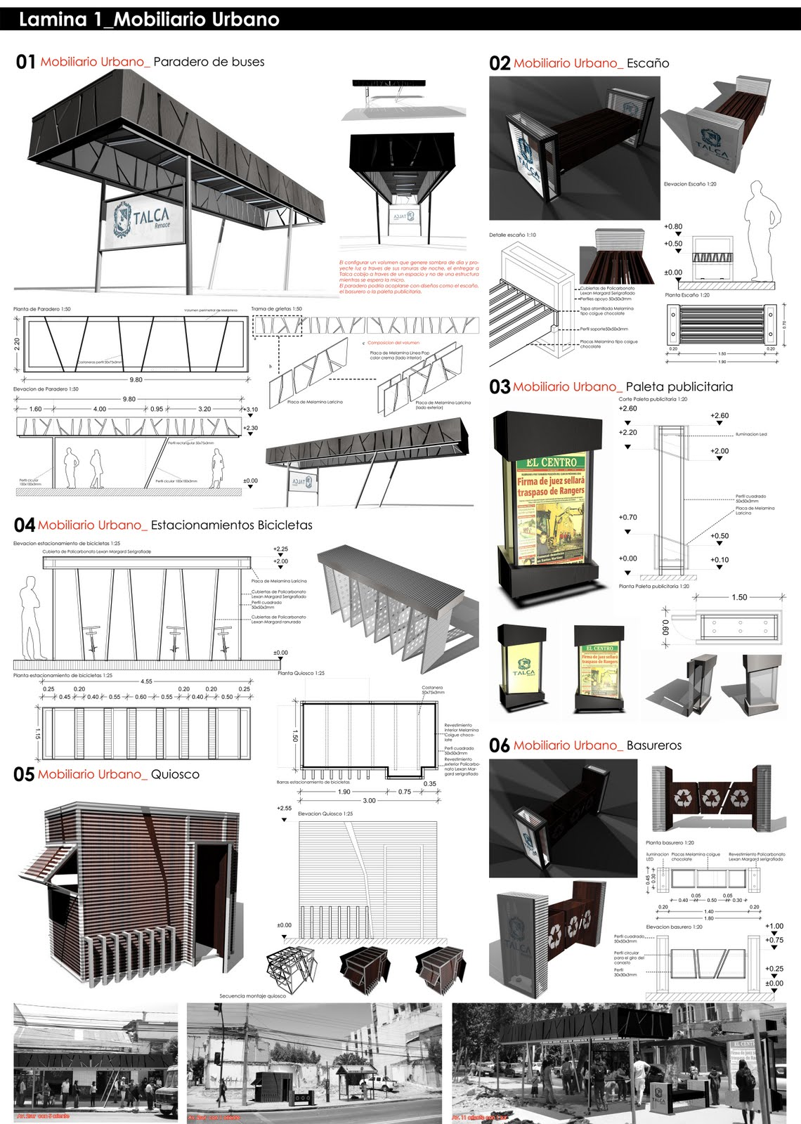 Andres rodriguez ravanal arquitecto concurso mobiliario for Equipamiento urbano arquitectura pdf