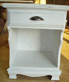 crackle paint technique furniture