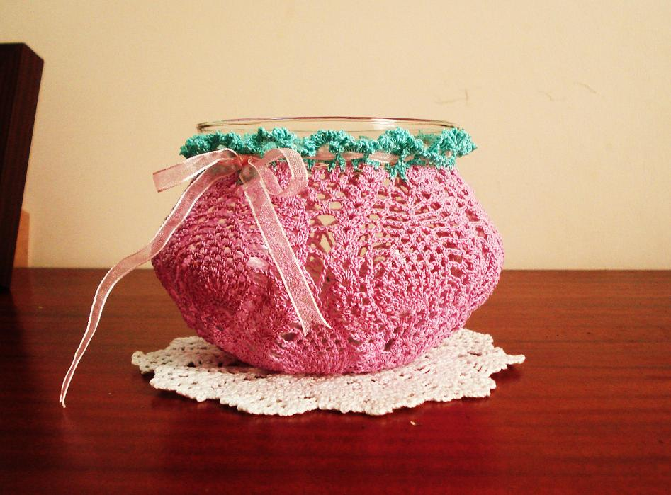 My Experiments With Needle N Thread Crochet Vase Cover
