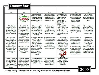 Click here to print your December motivational calendar!