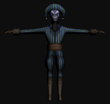 harlequin 3d model