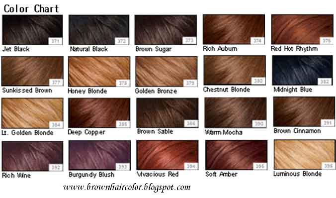 blonde hair colours chart. Brown Hair Colour Chart