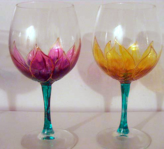 Glass painting wine glass painting ideas for Glass painting templates